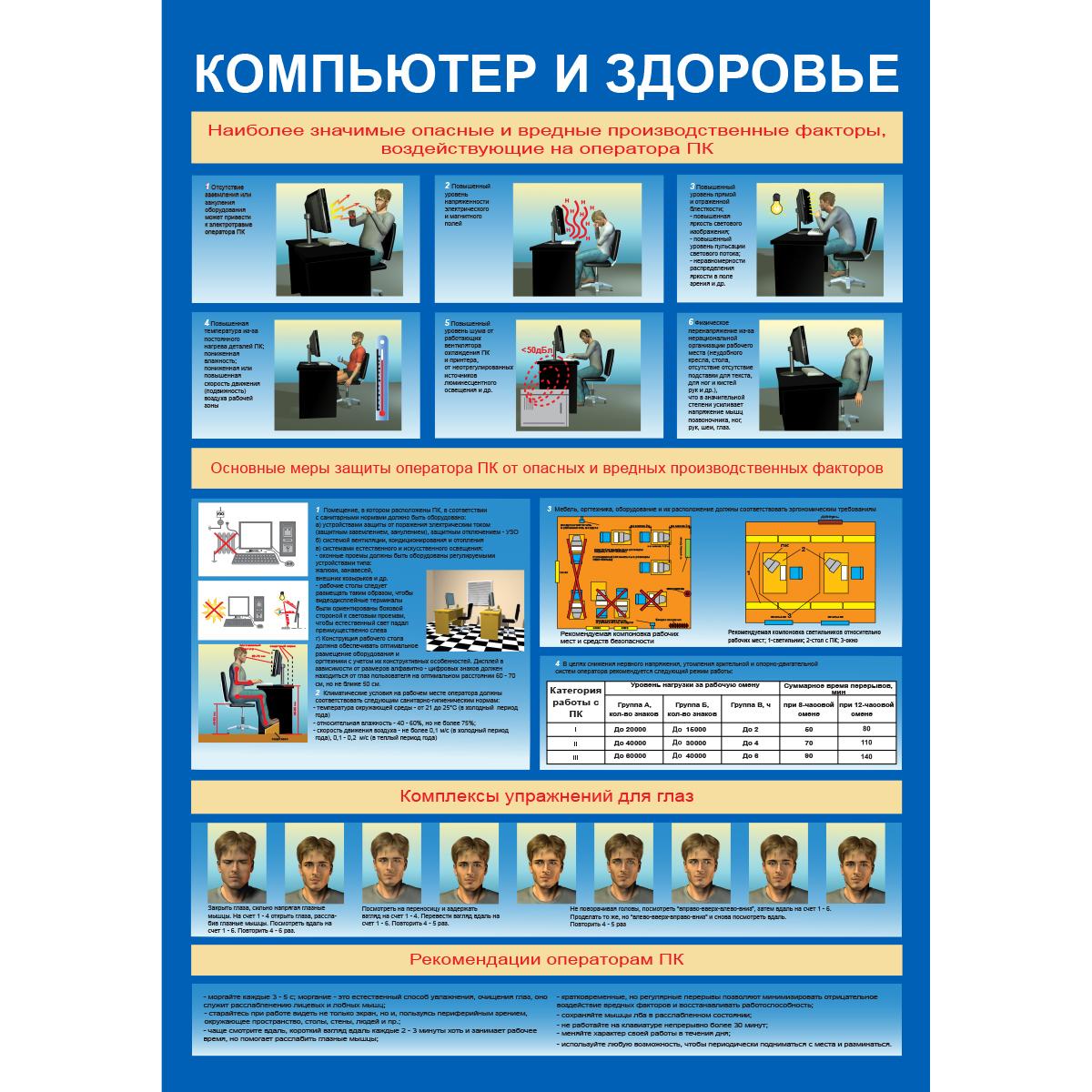 Компьютер и безопасность  1000х700 мм