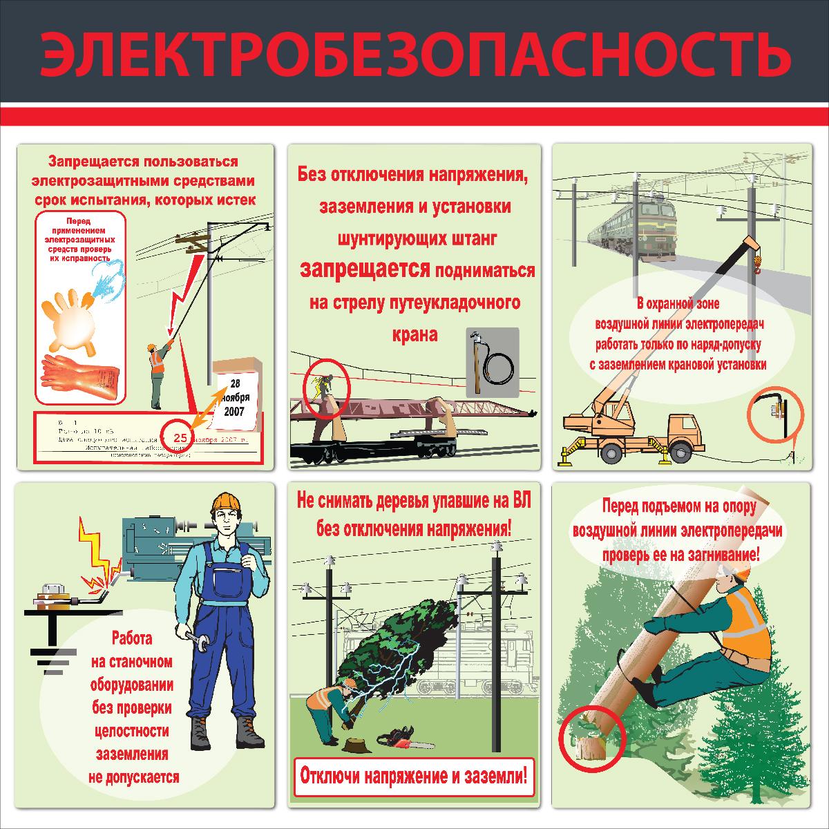 Электробезопасность  1000х1000 мм,  к-т из 2 стендов