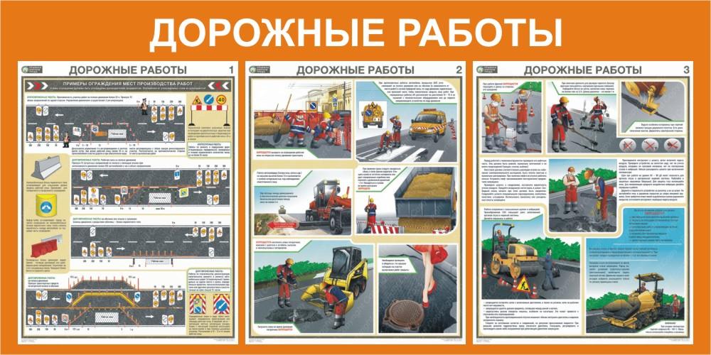 плакат Дорожные работы