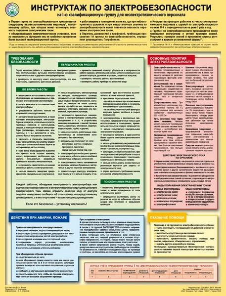 Инструктаж по электробезопасности на I-ю квалификационную группу для неэлектротехнического персонала