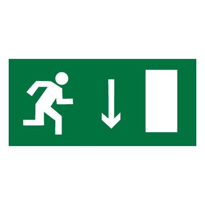 E09 Указатель двери эвакуационного выхода (правосторонний)