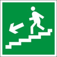 E14 Направление к эвакуационному выходу по лестнице вниз