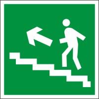 E16 Направление к эвакуационному выходу по лестнице вверх